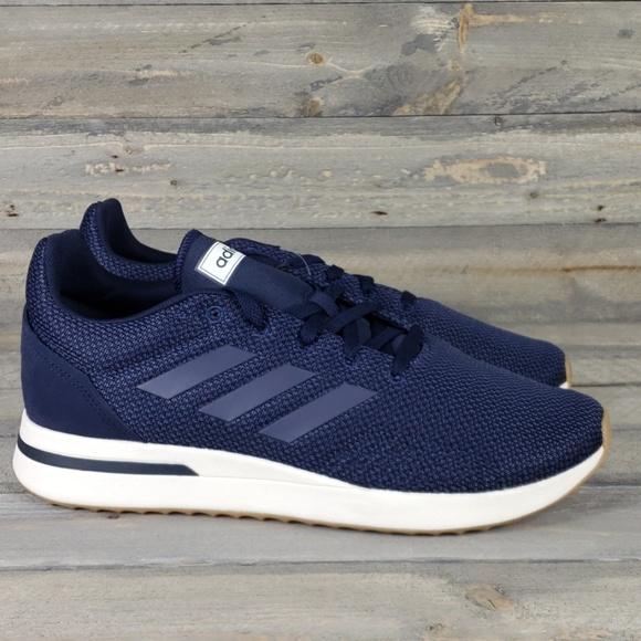 New adidas Men's RUN70S Running Shoes Navy Blue NWT